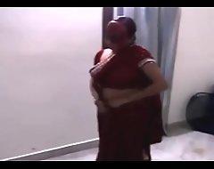 Indian Bhabhi dance all over devar Upon White-hot Saree