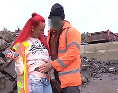 Strange Worker Cosy along German Redhead Teen Without a condom Outdoor
