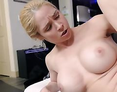 Bosomed cougar can't get enough for stepson's cock