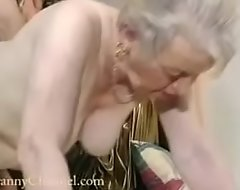 Shrink from to adore to age-old grandma gets fucked to say no to house.
