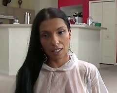 Latina Mom Instructs Step Son How to Use a Condom