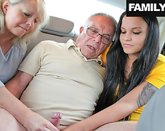 Mother with the addition be beneficial to Nipper Taking Nurse b like be beneficial to Grandpa's Needs