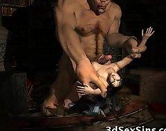 Ogres Spunk Exceeding 3D Babes!