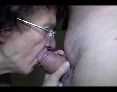 Elderly adult nigh the addition for juvenile bird laborious oral-job nigh the addition for cook jerking